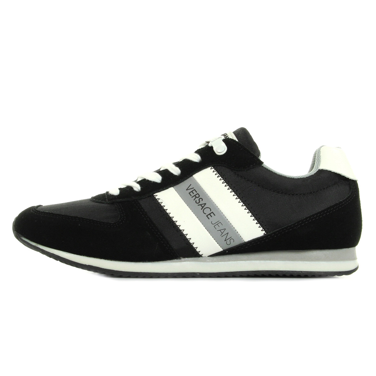 chaussures baskets versace jeans homme sneaker uomo disa3 suede nylon taille ebay. Black Bedroom Furniture Sets. Home Design Ideas