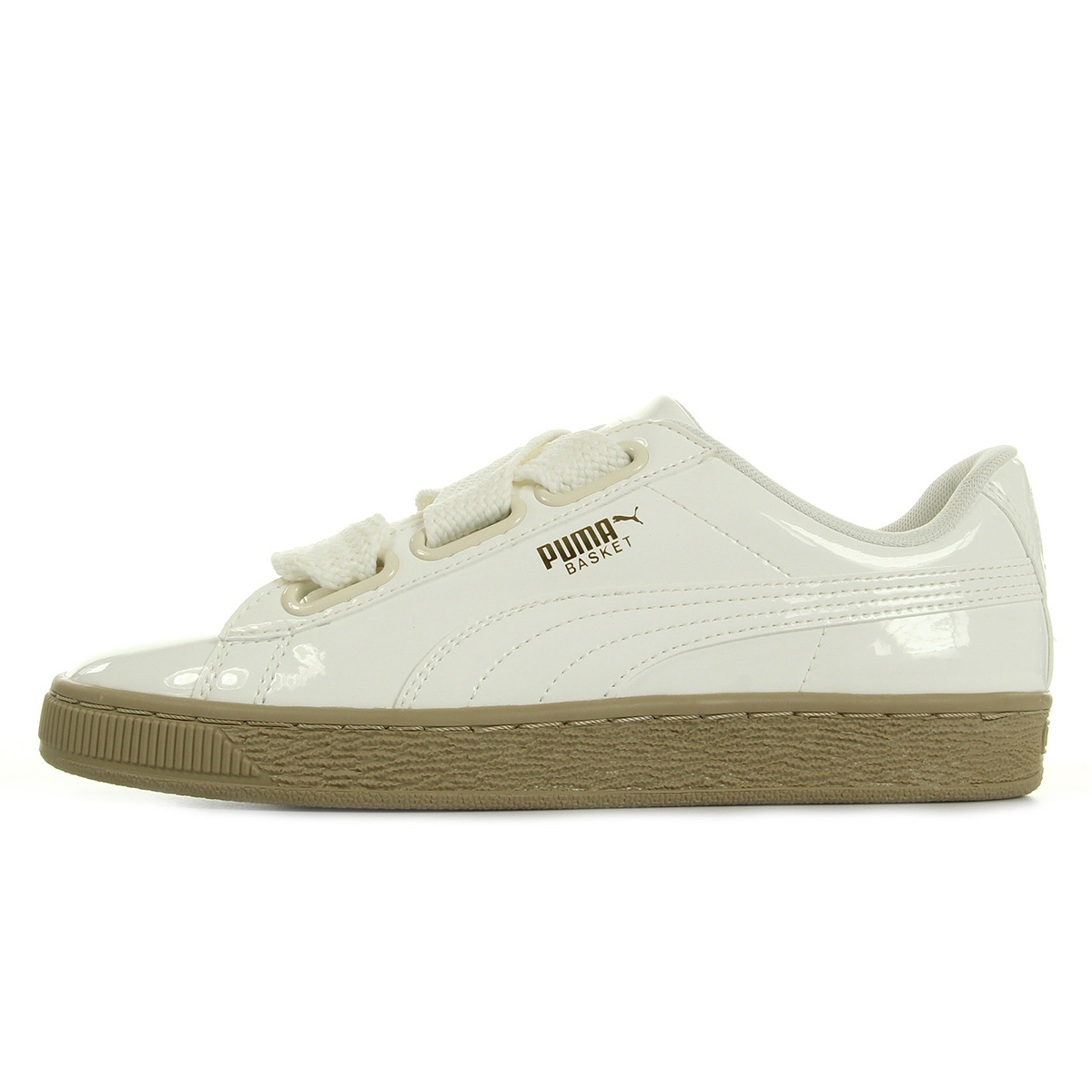 baskets puma heart patent vernies blanc
