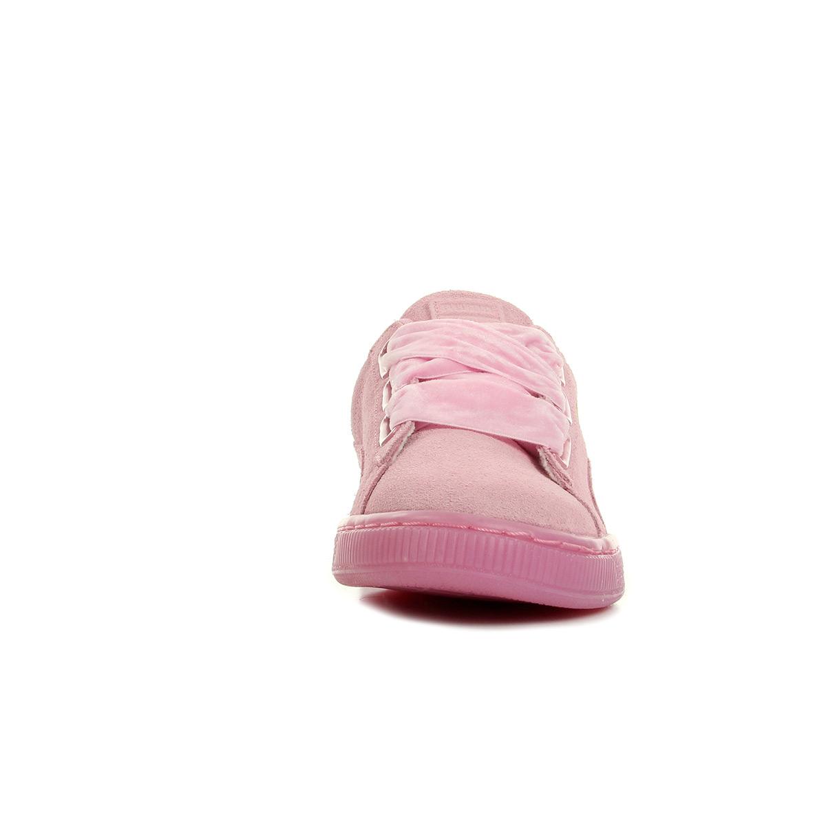 Baskets Femme À Bas Prix Prism Pink Puma Suede Heart Reset Wns