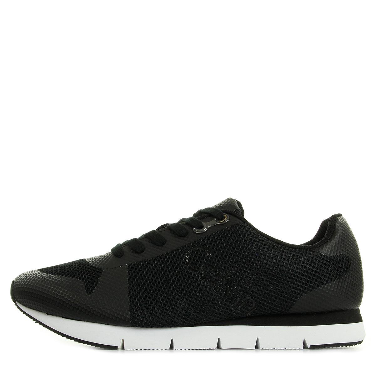 Chaussures Baskets Calvin Klein homme Jacques Kaki taille Noir Noire Textile