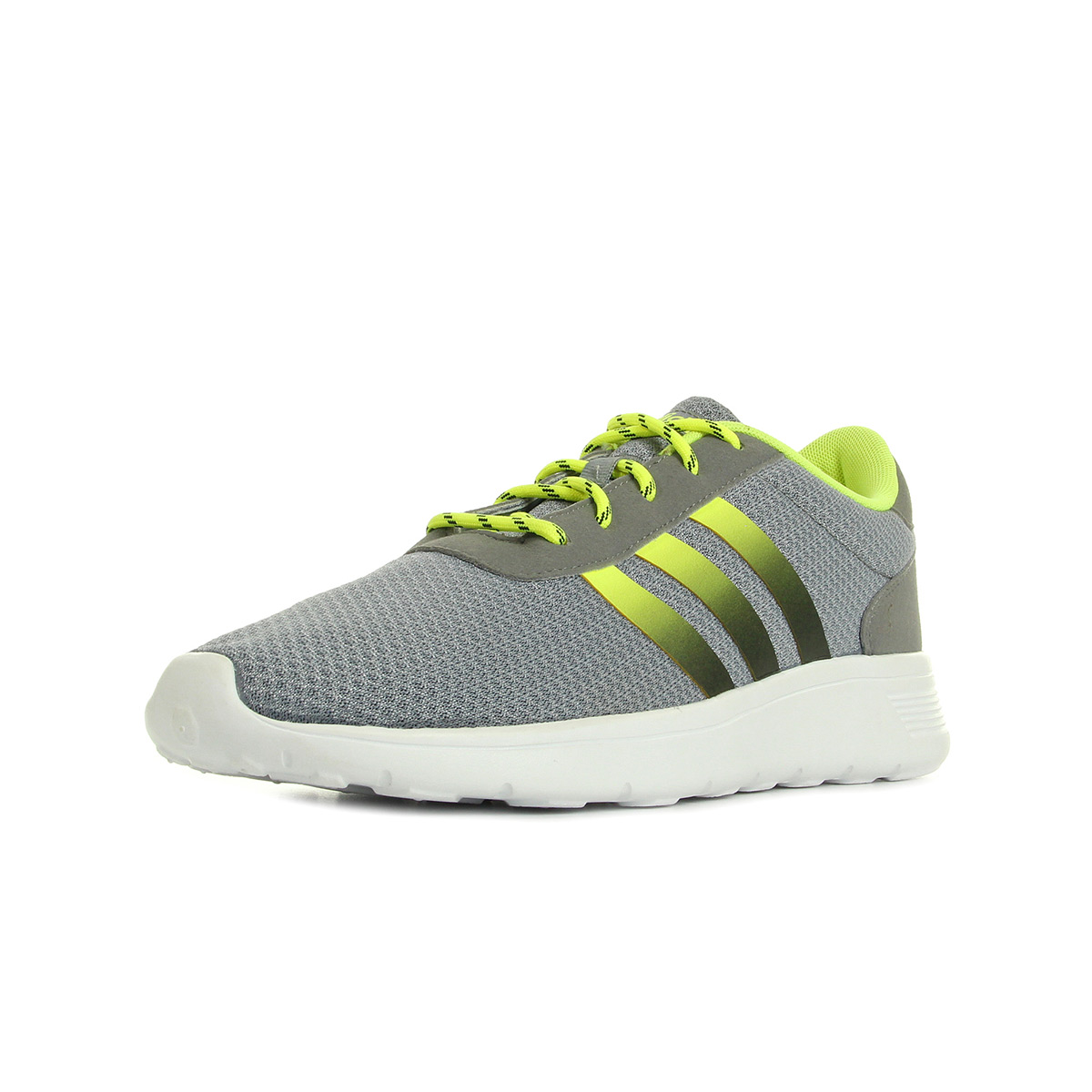 Chaussures Baskets adidas Neo homme Lite Racer taille Gris Grise Textile Lacets