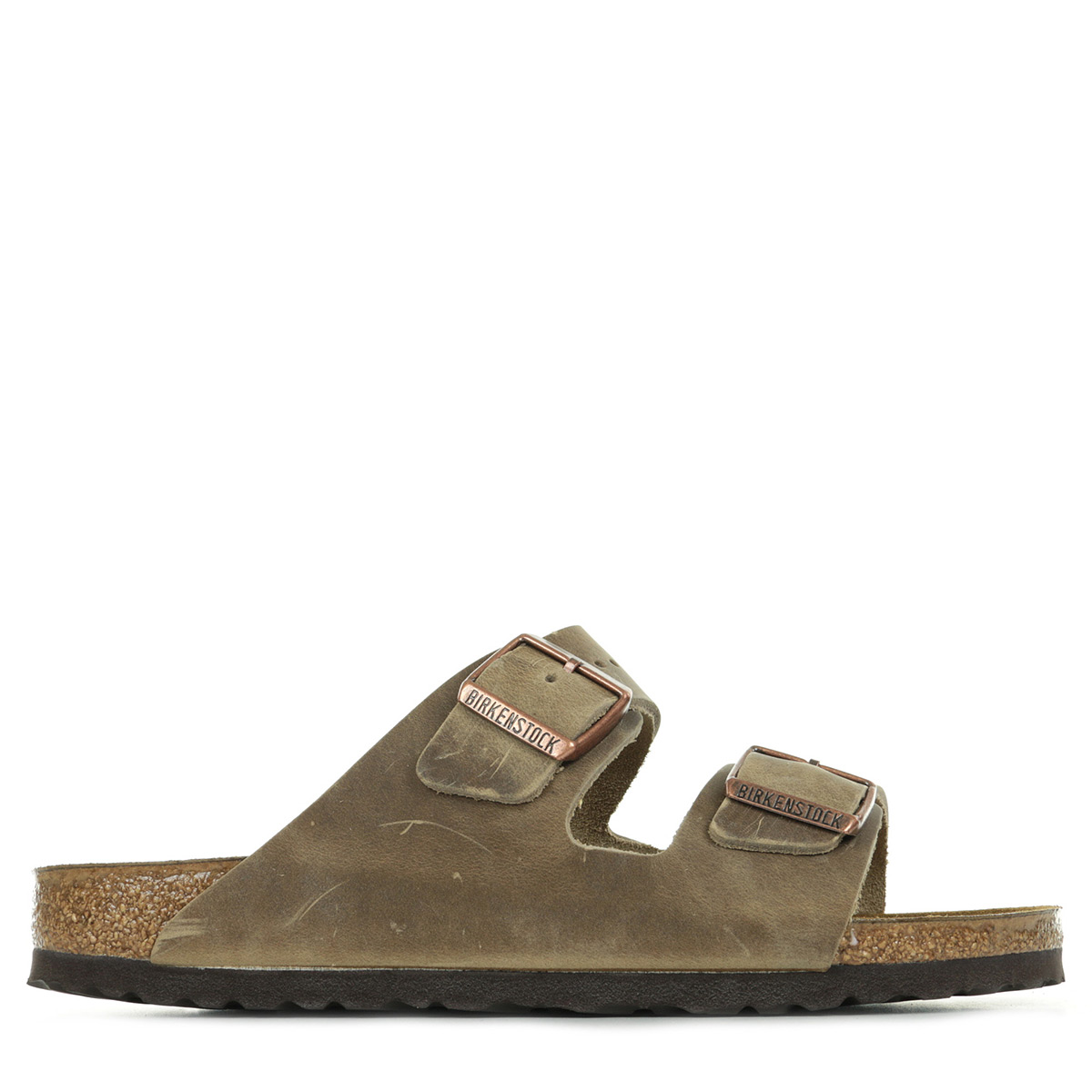 Sandales Nu Pieds Birkenstock homme Arizona Bs taille Marron Cuir A boucles