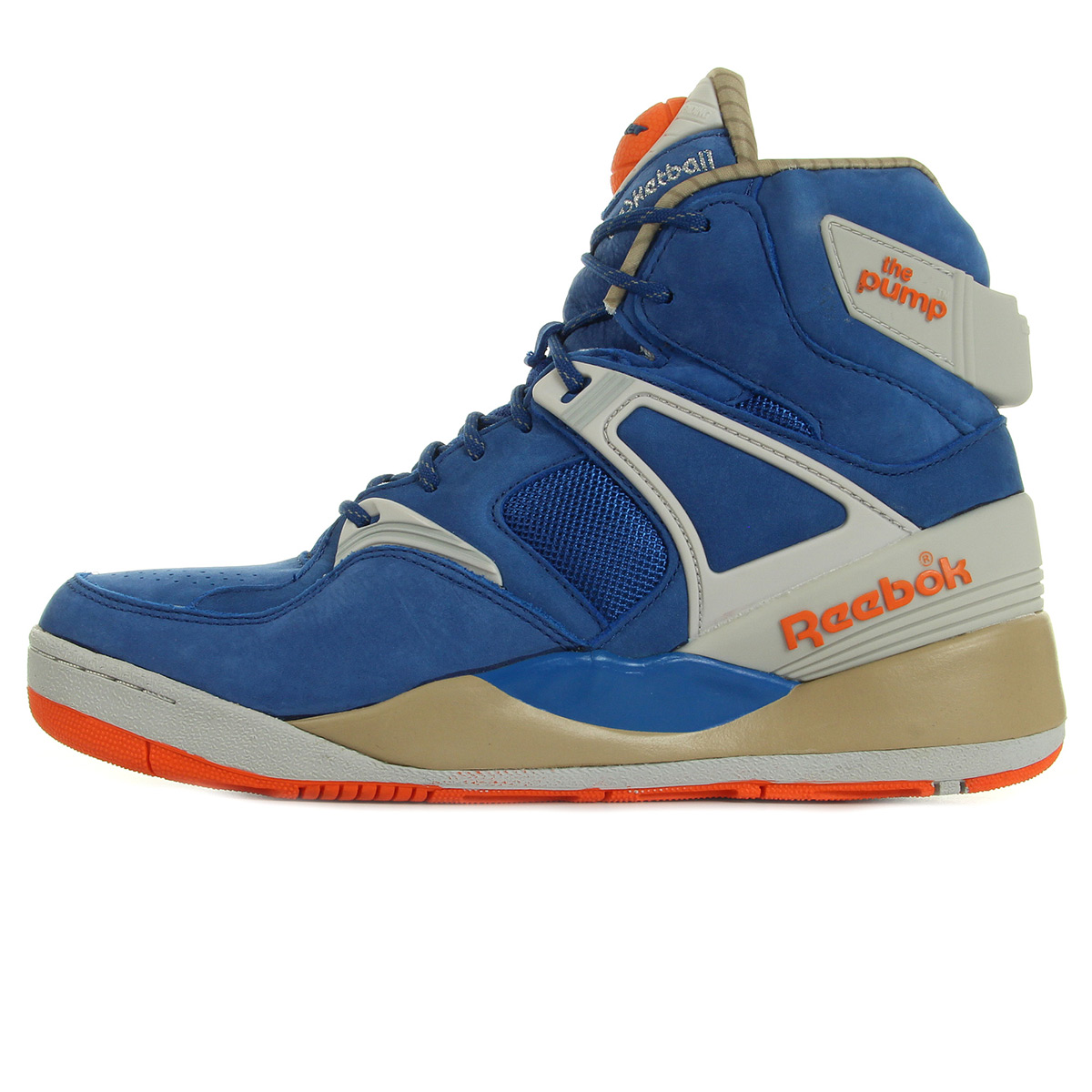 chaussures baskets reebok homme the pump certified taille bleu bleue cuir lacets ebay. Black Bedroom Furniture Sets. Home Design Ideas