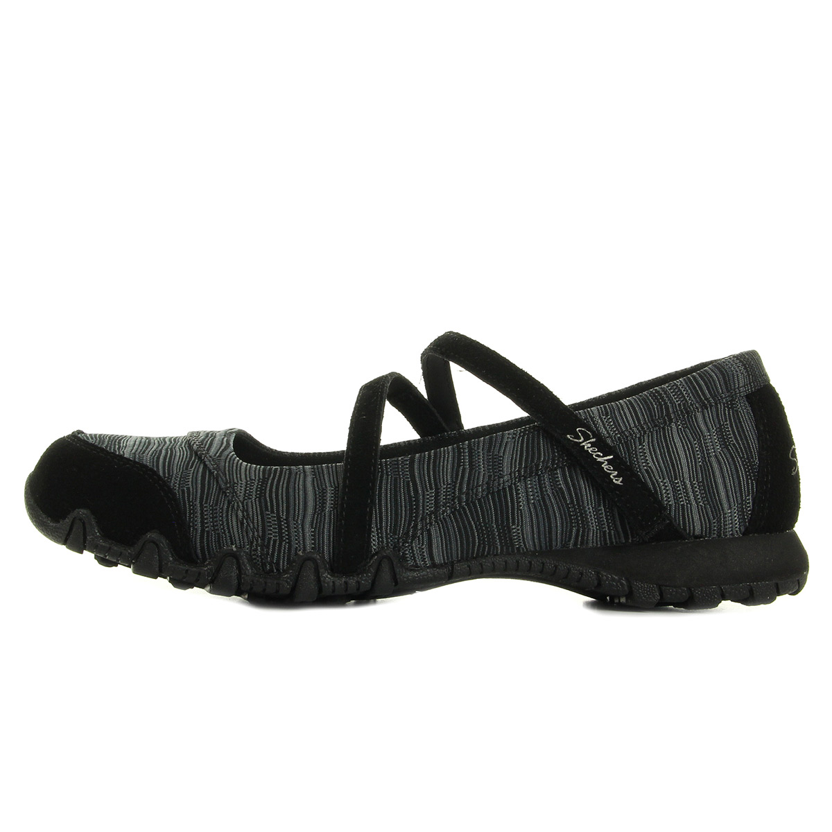 Skechers Bikers Ripples 49343BLK, Ballerines femme