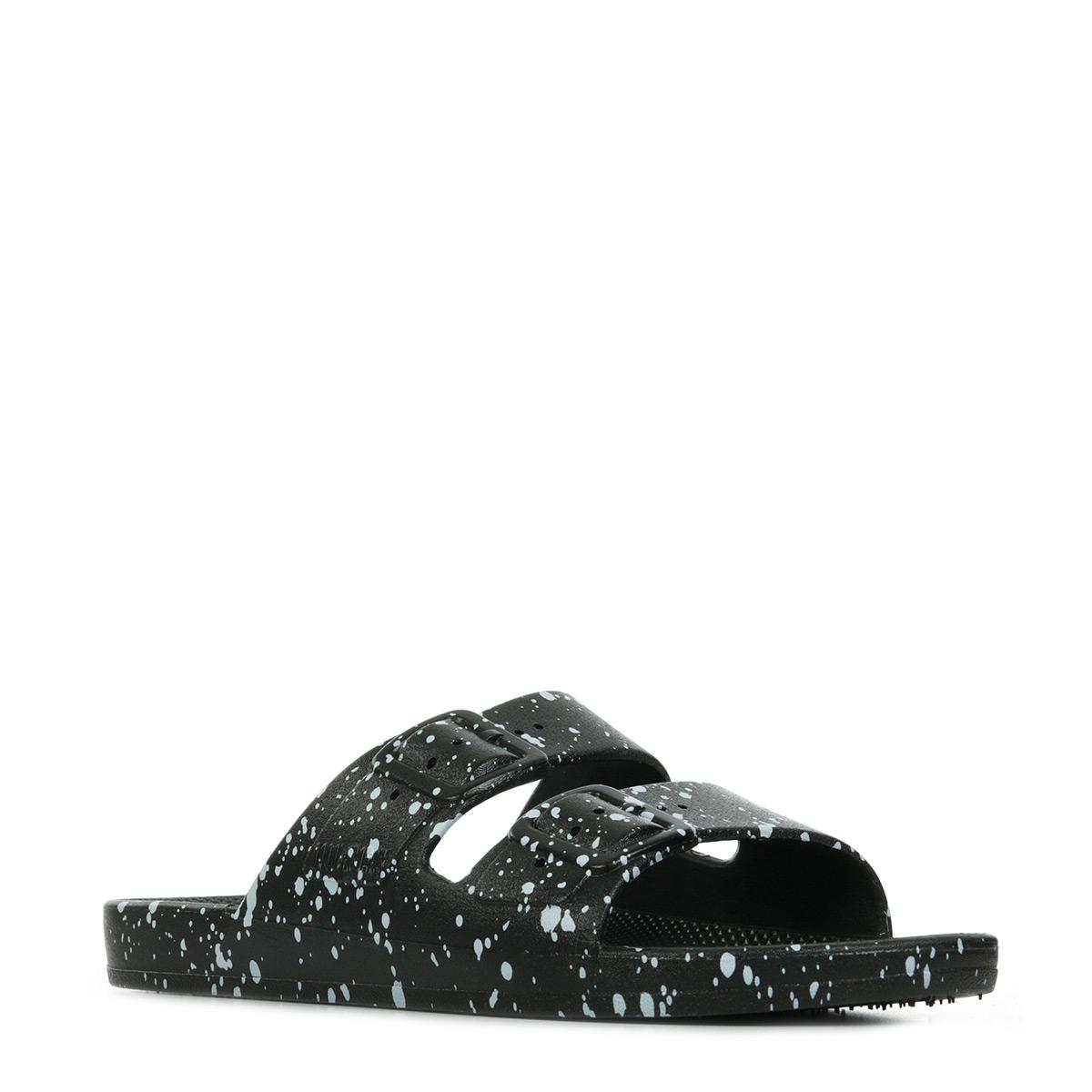 Moses Freedom Slippers Black Splatter BLACKSPLATTER, Sandales