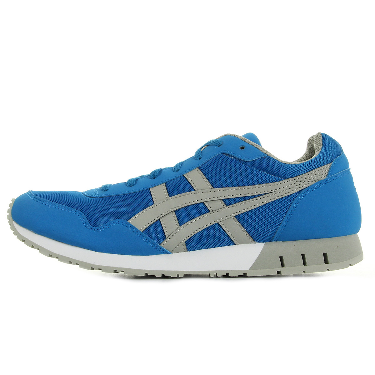 chaussures baskets asics homme curreo taille bleu marine bleue textile lacets ebay. Black Bedroom Furniture Sets. Home Design Ideas