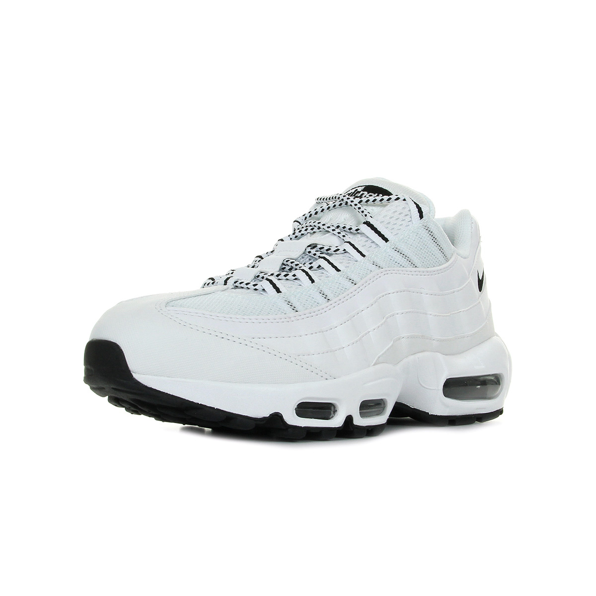 Chaussures Baskets Nike Homme Blanc Air Max 95 Taille Blanc Homme Blanche Cuir f51f5d