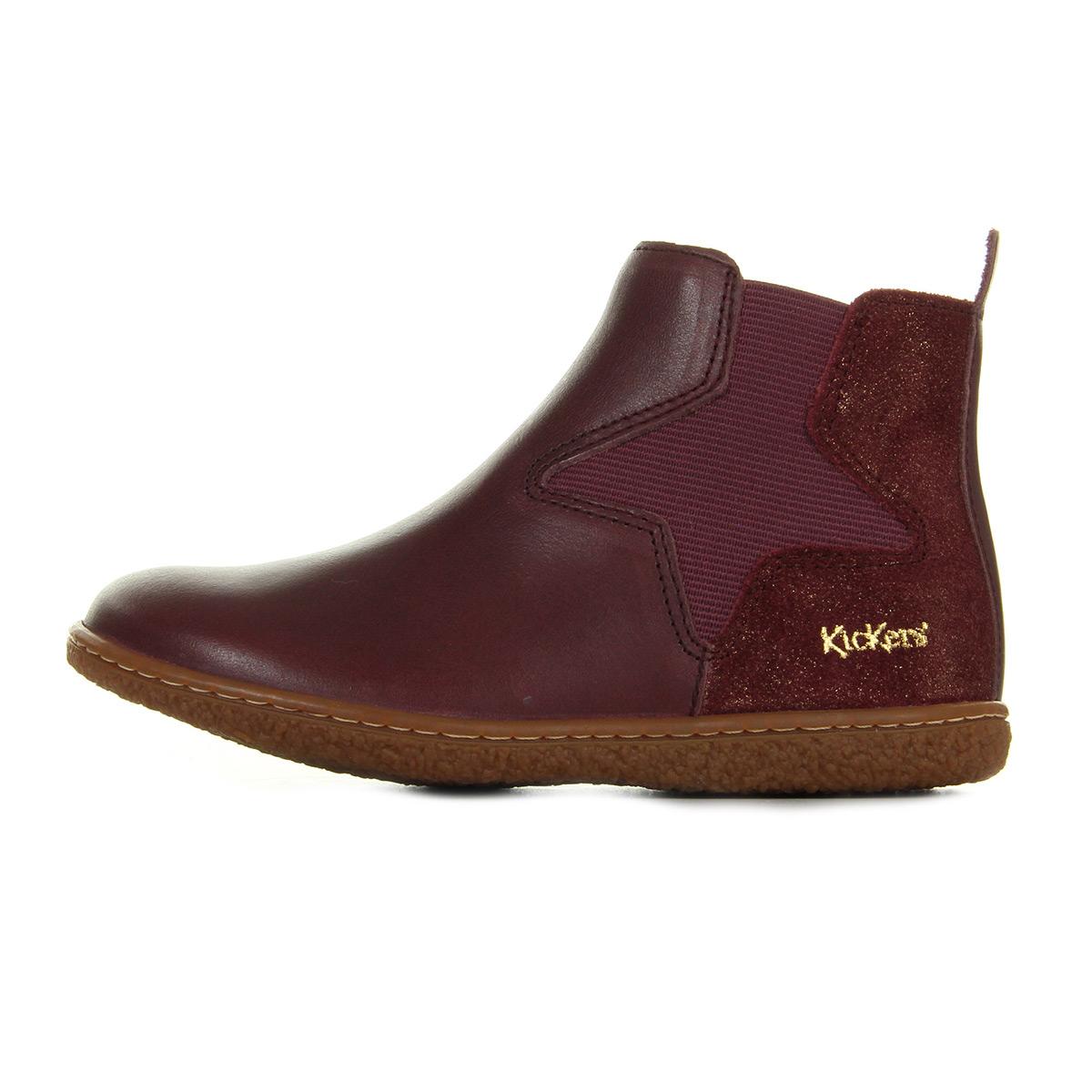 kickers vermillon cuir vintage bordeaux 5087413018 bottes. Black Bedroom Furniture Sets. Home Design Ideas