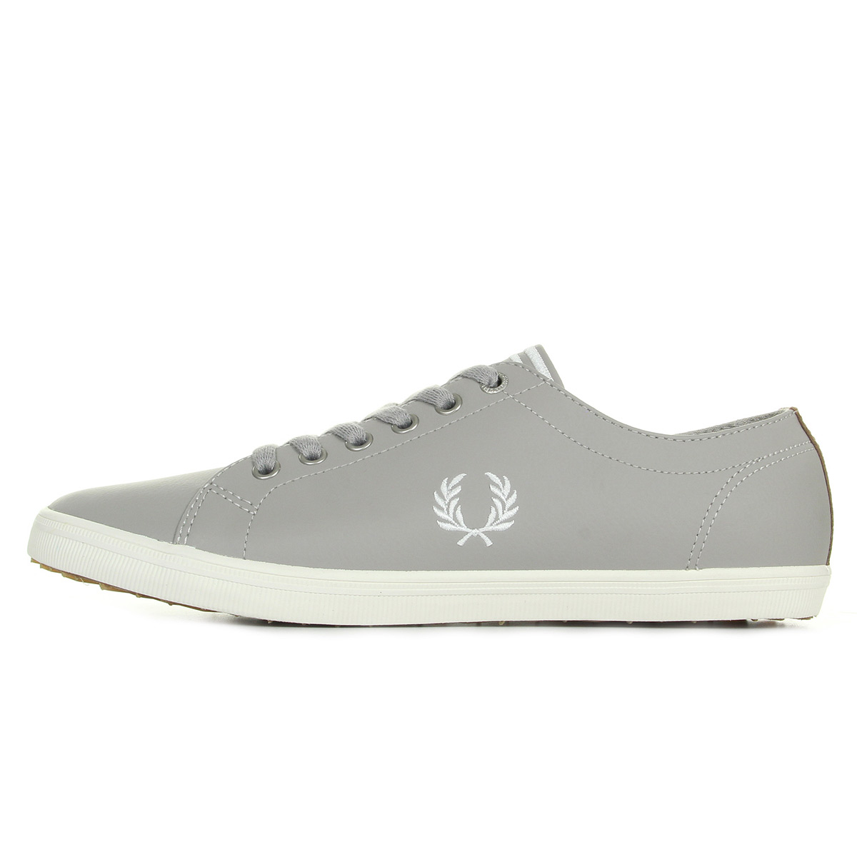 Fred Perry Kingston Leather Silver B6237U929, Baskets mode homme