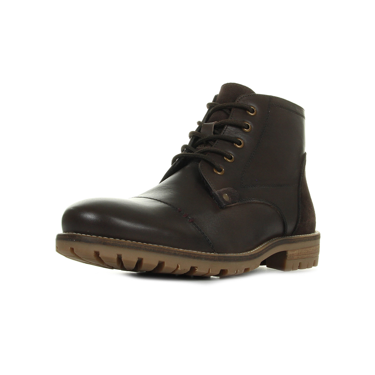 Kickers Fanfarno Cuir Marron marron - Chaussures Boot Homme
