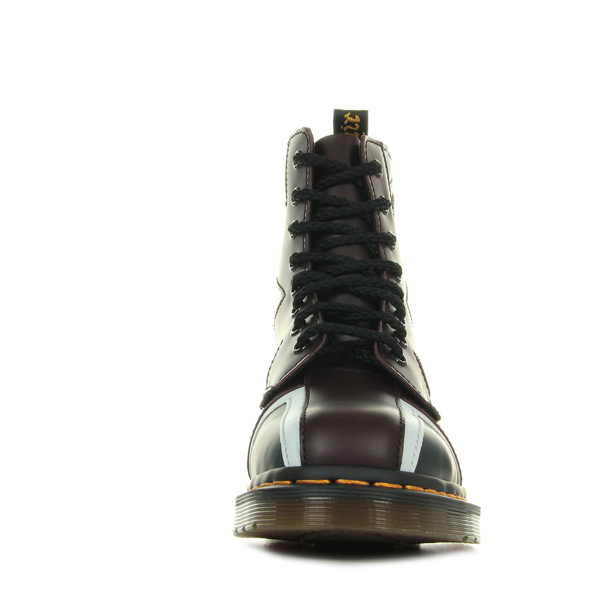 Dr. Martens Pascal Brit Navy Oxblood White Smooth Pu 22774410, Boots