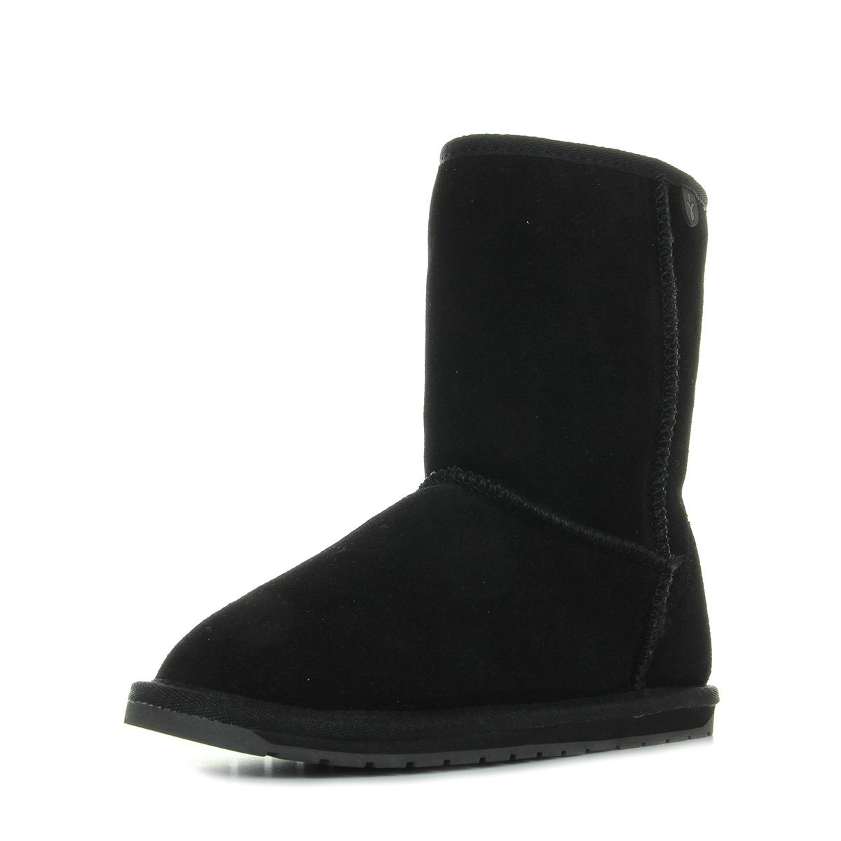 Femme Wallaby Lo Boots Black T10102black Emu Australia Teens fq45cWny0F