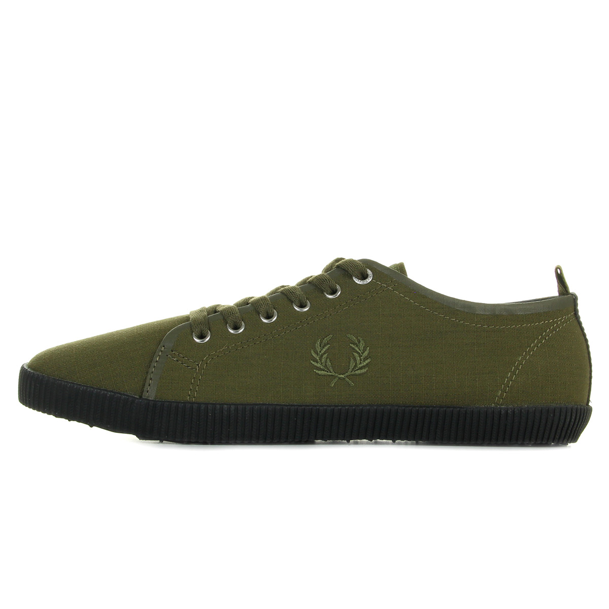 Fred Perry Kingston Shower Dark Olive B2112385, Baskets mode homme