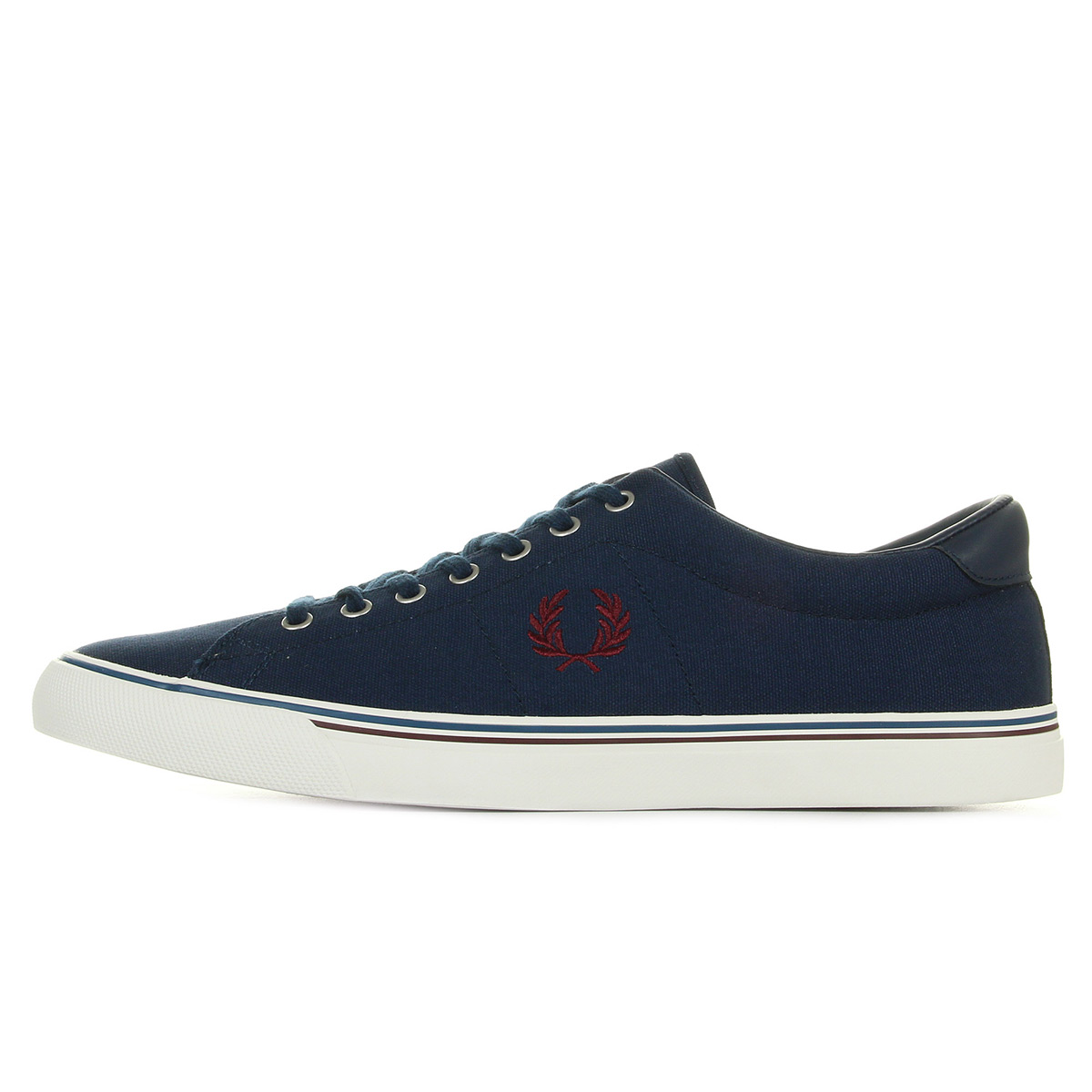 Baskets Fred Perry Underspin Canvas Carbon Blue Yellow Myzk2GV