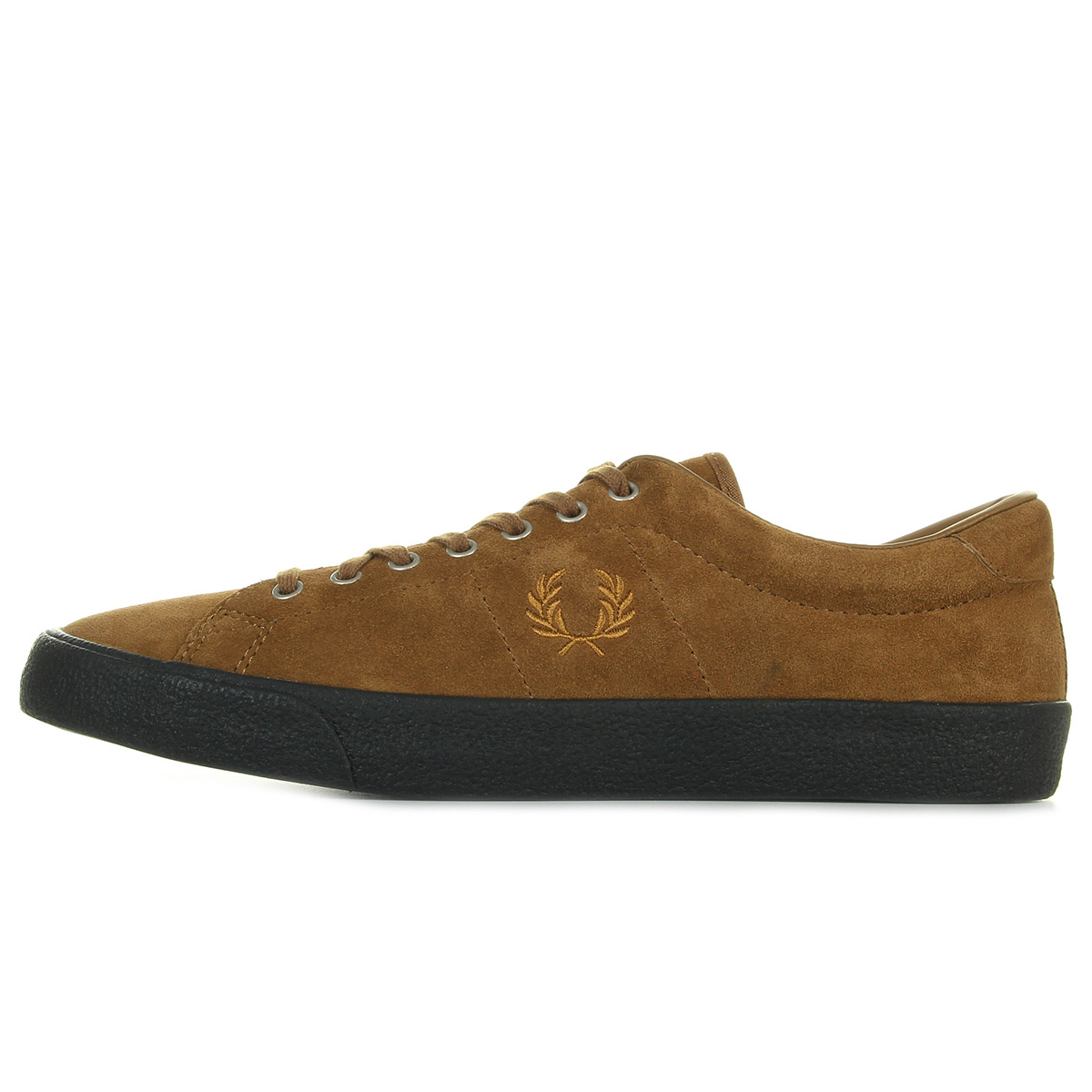 Fred Perry Underspin Suede Ginger Black B2130434, Baskets mode homme