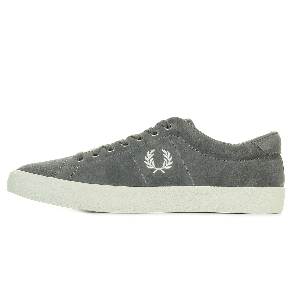 Baskets Fred Perry Underspin Suede Falcon Grey White fXX8d2u