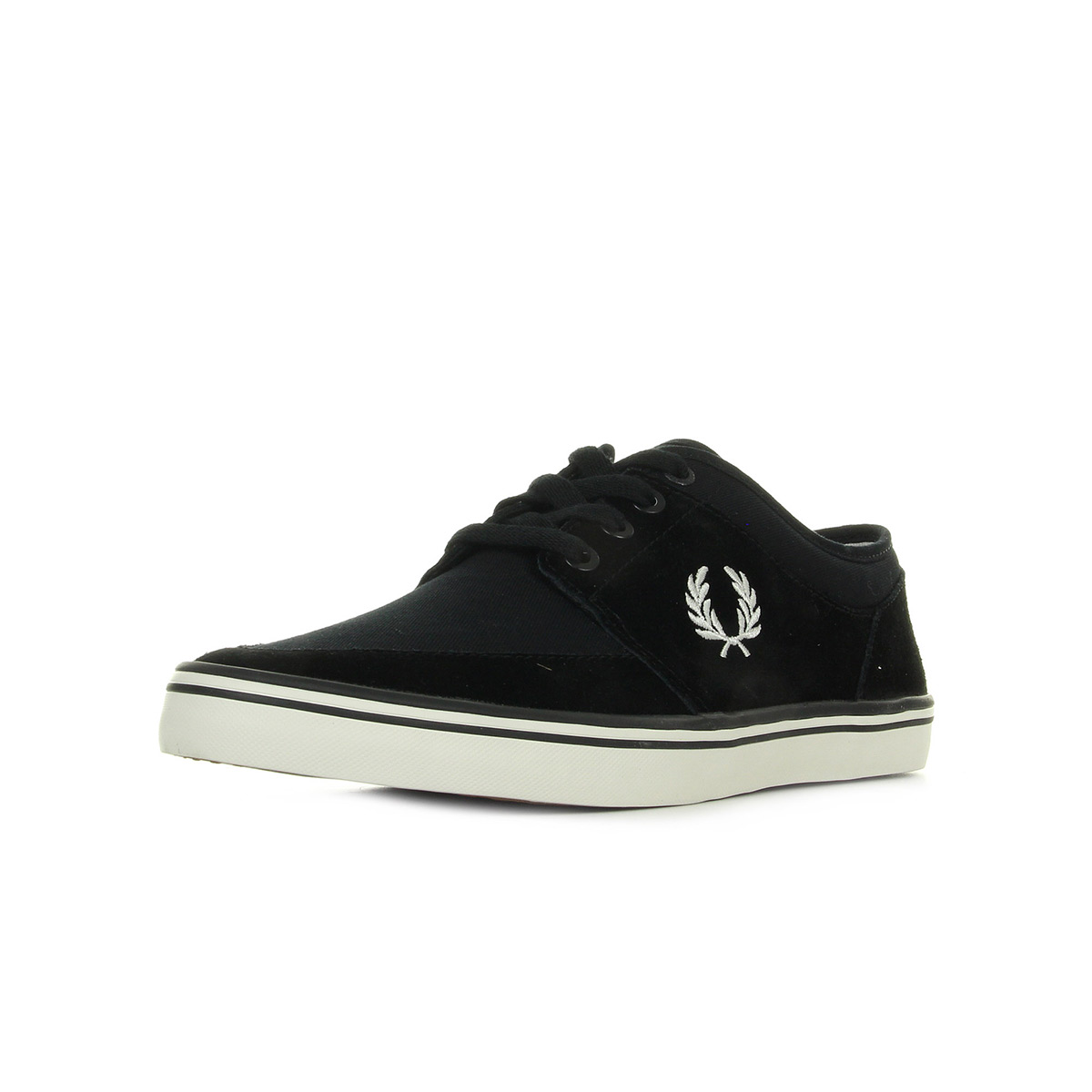 Baskets Fred Perry Stratford Suede Twill Black Porcelain 7VOLzThngh