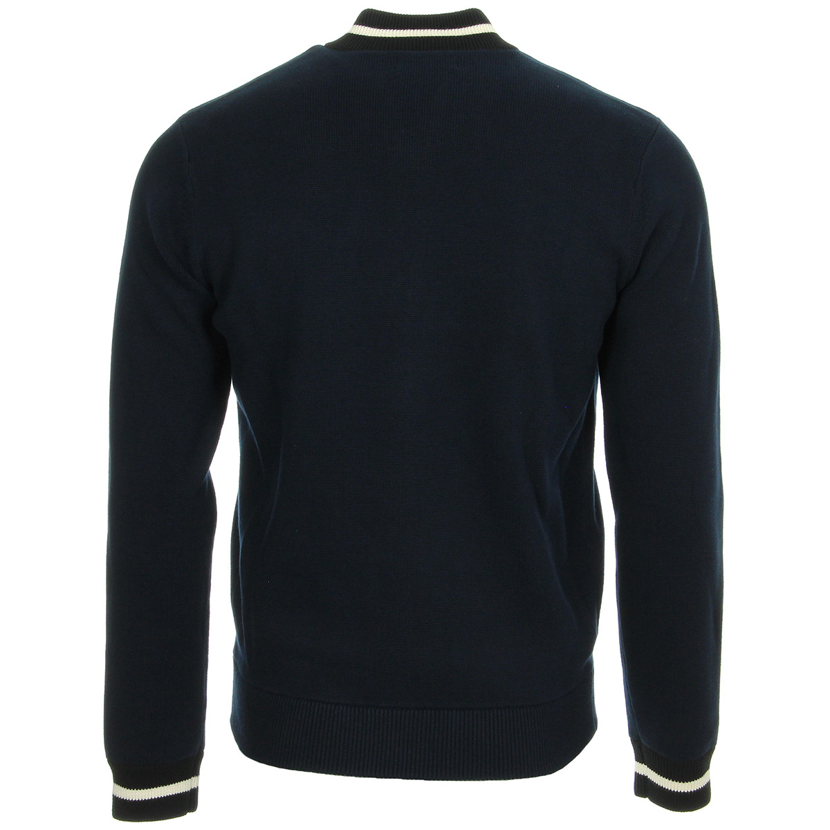 Fred Perry Tipped Bomber Cardigan Blue Granite K2534E97, Gilets homme