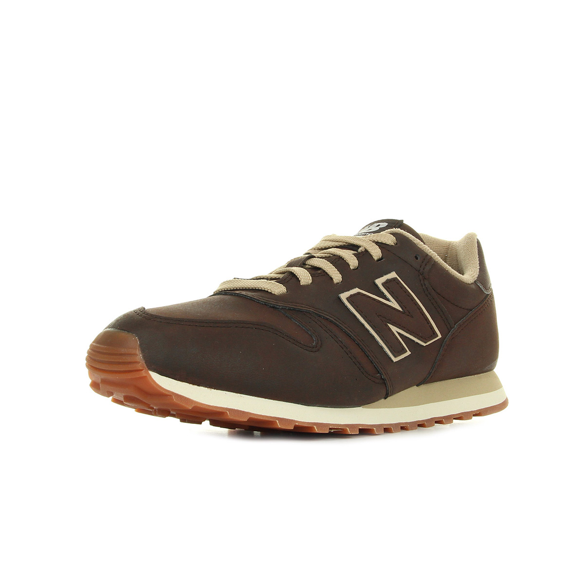 Chaussures Baskets New Balance homme ML373 OTO taille Camel Cuir Lacets