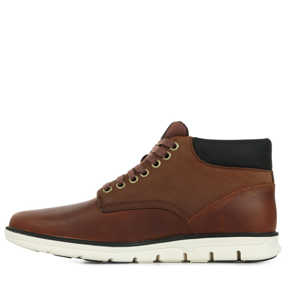 timberland bradstreet chukka leather brown ca13ee baskets mode homme. Black Bedroom Furniture Sets. Home Design Ideas