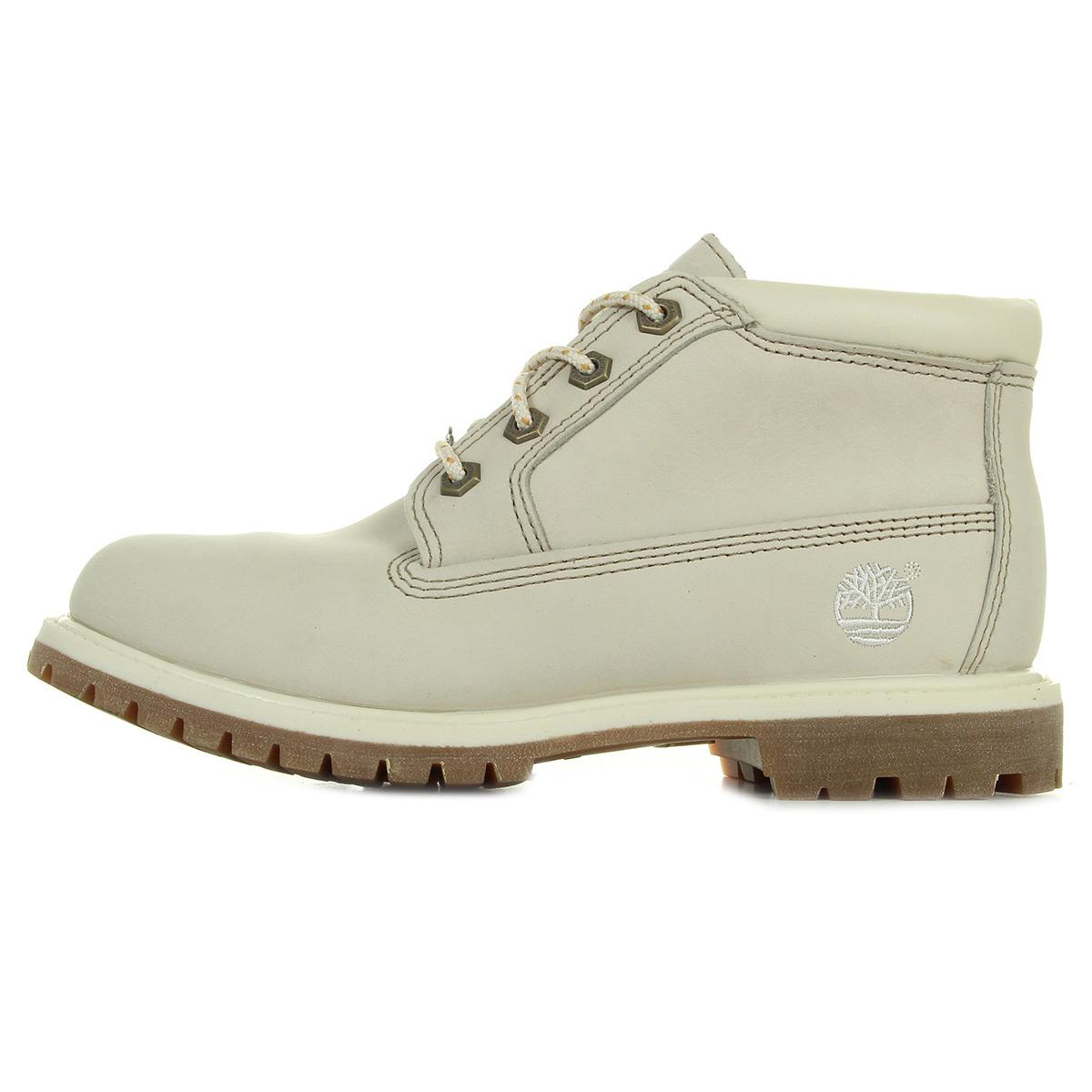 Timberland Chukka Double Waterproof Boost Winter White Nubuck C23671, Boots femme