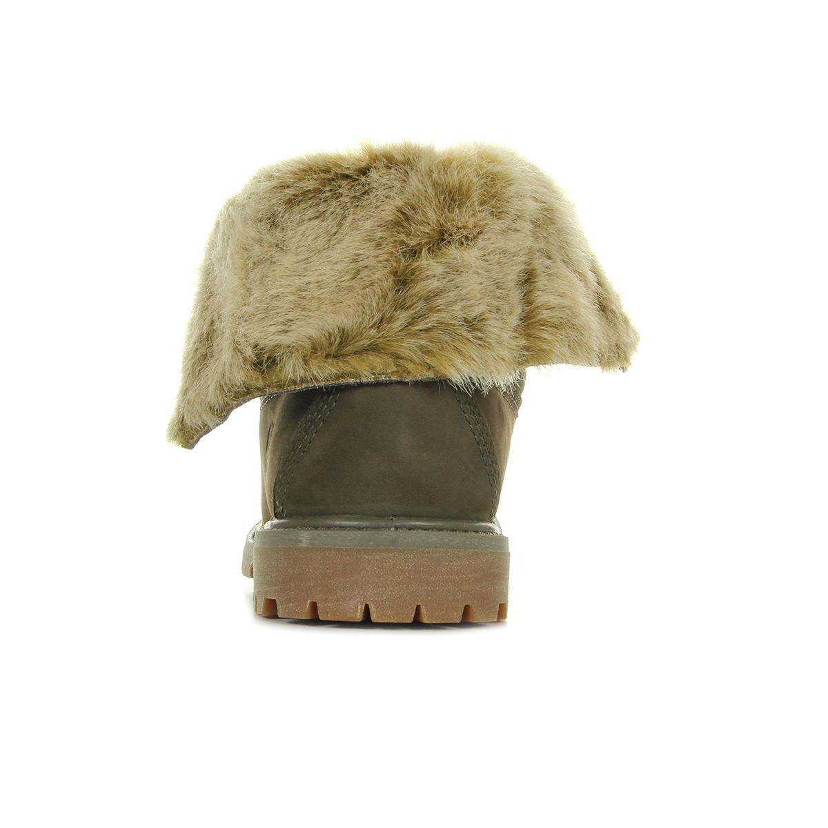 Timberland Faux Fur Fold Down Canteen Nubuck CA19D5, Boots femme