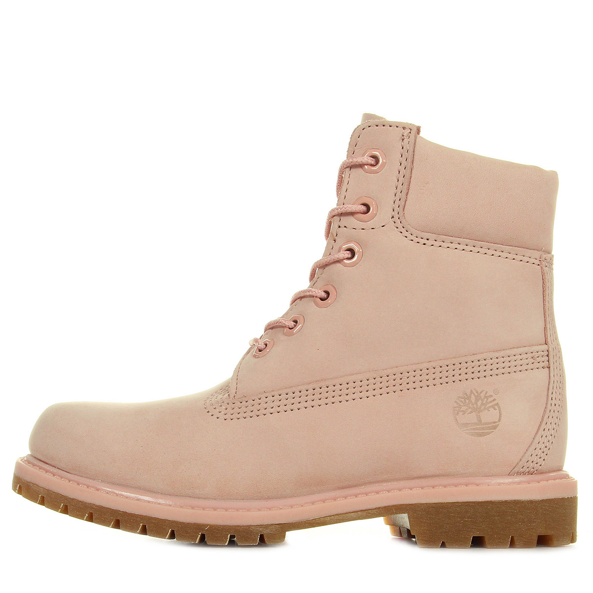chaussures boots timberland femme 6in premium mono taille rose cuir lacets ebay. Black Bedroom Furniture Sets. Home Design Ideas