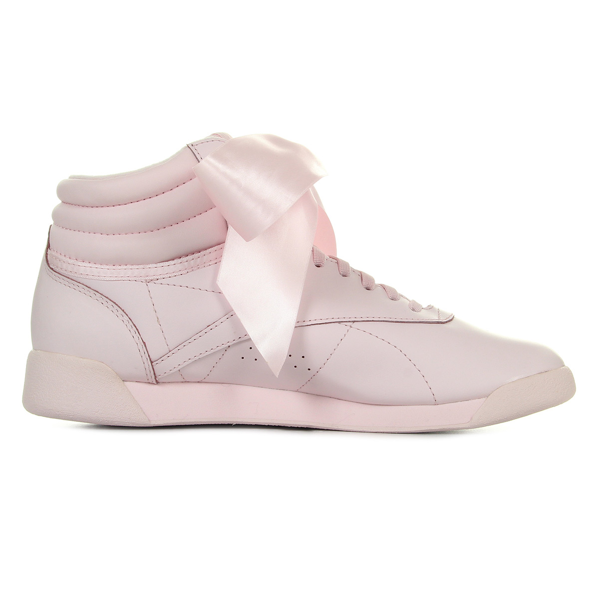 9c548be92b081 Chaussures Baskets Reebok femme F S Hi Satin Bow taille Rose Cuir ...