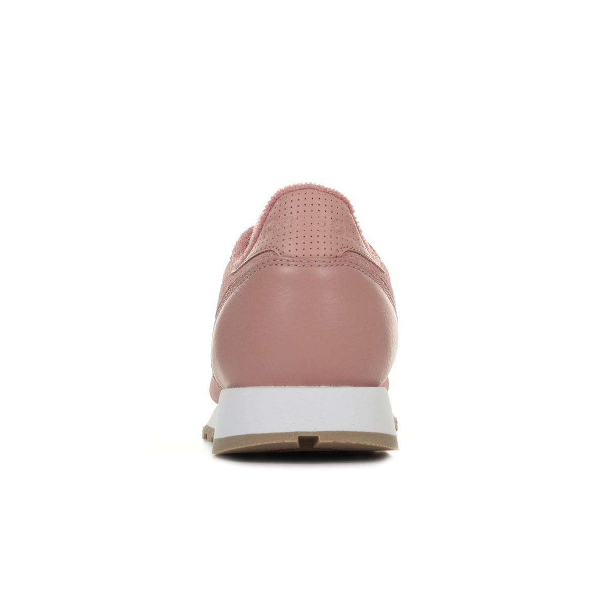 Détails sur Chaussures Baskets Reebok unisexe Classic Leather Estil taille Rose Cuir Lacets