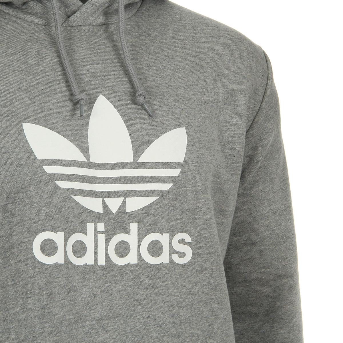Détails sur Vêtement Sweats adidas homme Trefoil Warm U Hoodie taille Gris Coton