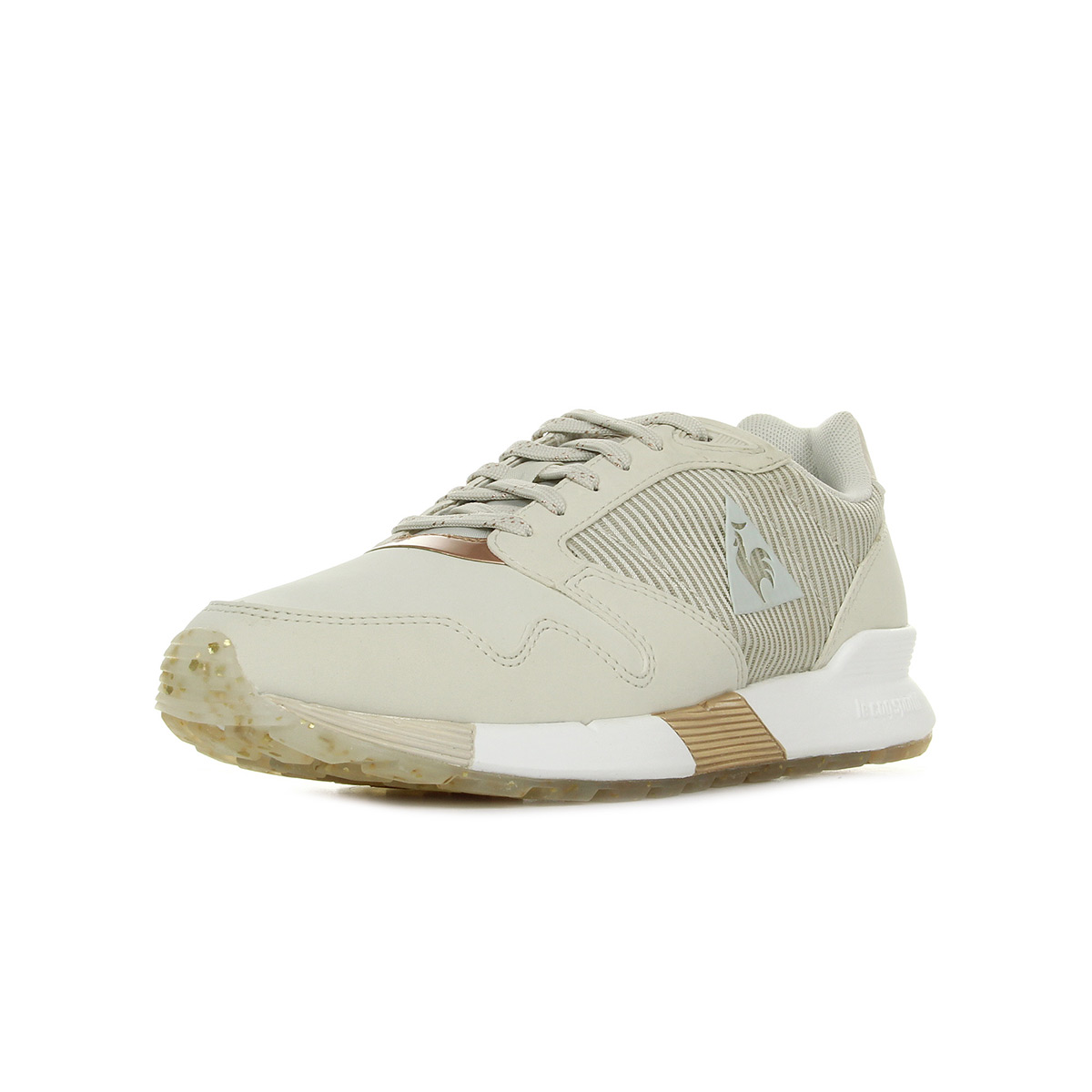 Chaussures Baskets Le Coq Sportif femme Omega X W Stripped Sock Sparkly Turtle