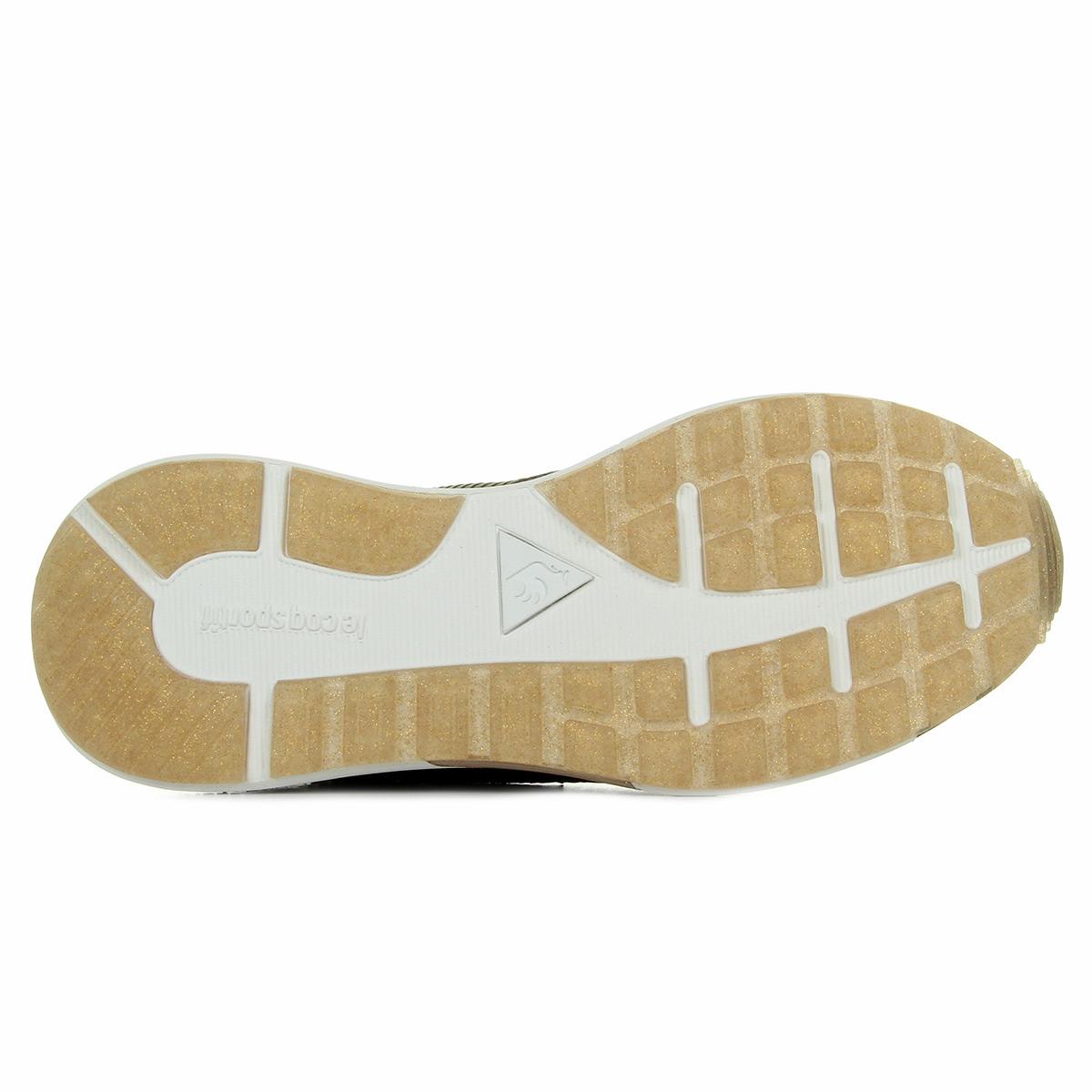 Le Coq Sportif Omega X W Stripped Sock Metallic Olive 1721179, Baskets mode femme
