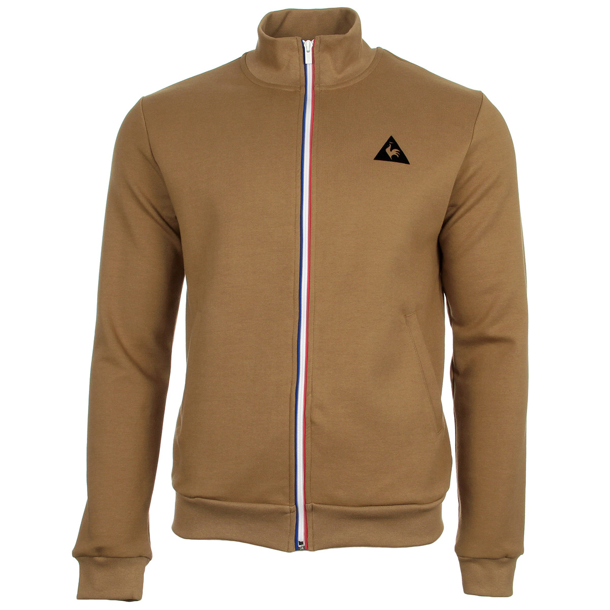 le coq sportif ess sp fz sweat m camel 1720326 vestes sport homme. Black Bedroom Furniture Sets. Home Design Ideas