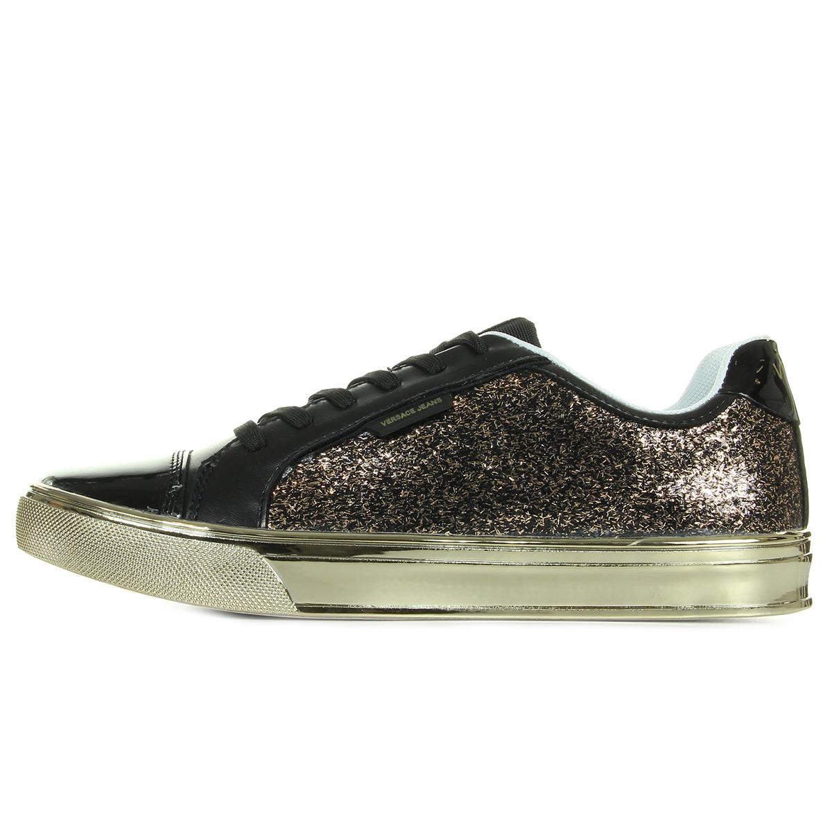 Versace Jeans Sneaker Donna DisC3 Easy Leath Glitter E0VPBSC3M27, Baskets mode femme