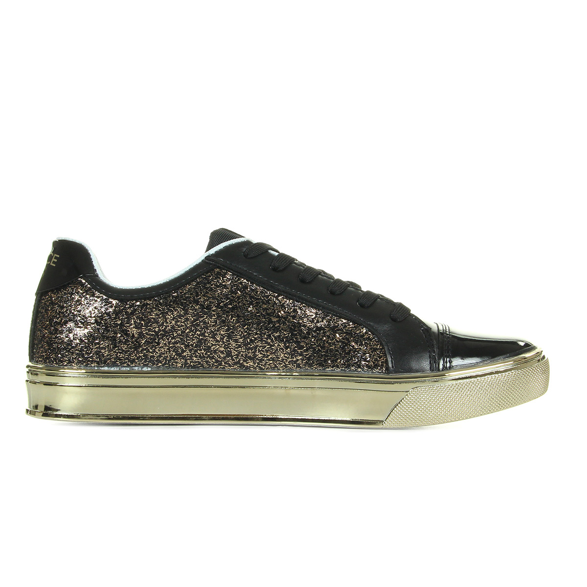 Baskets Versace Sneaker Donna DisC3 Easy Leath Glitter 6ON1AgXM