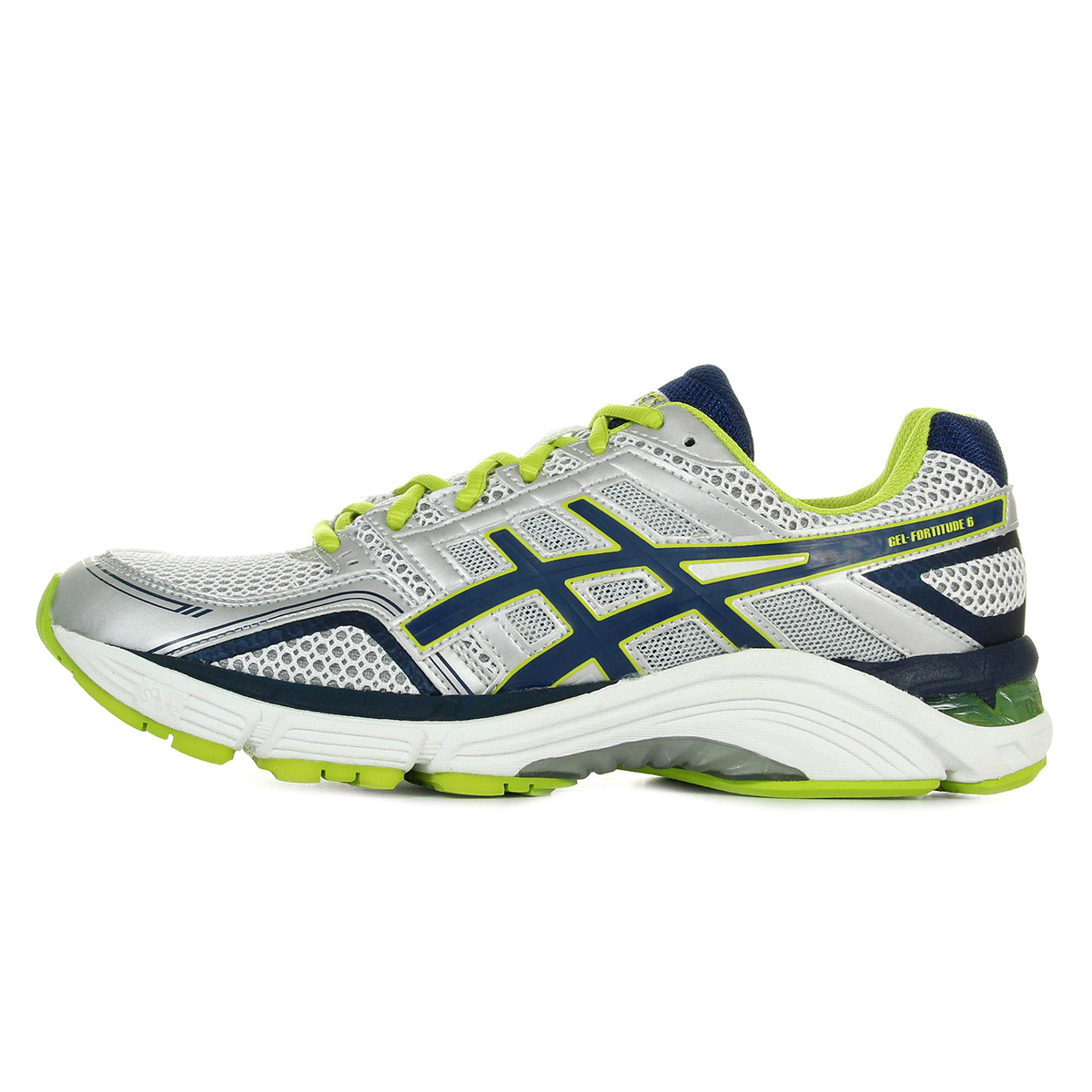 chaussures asics homme gel fortitude 6 running taille blanc blanche textile ebay. Black Bedroom Furniture Sets. Home Design Ideas