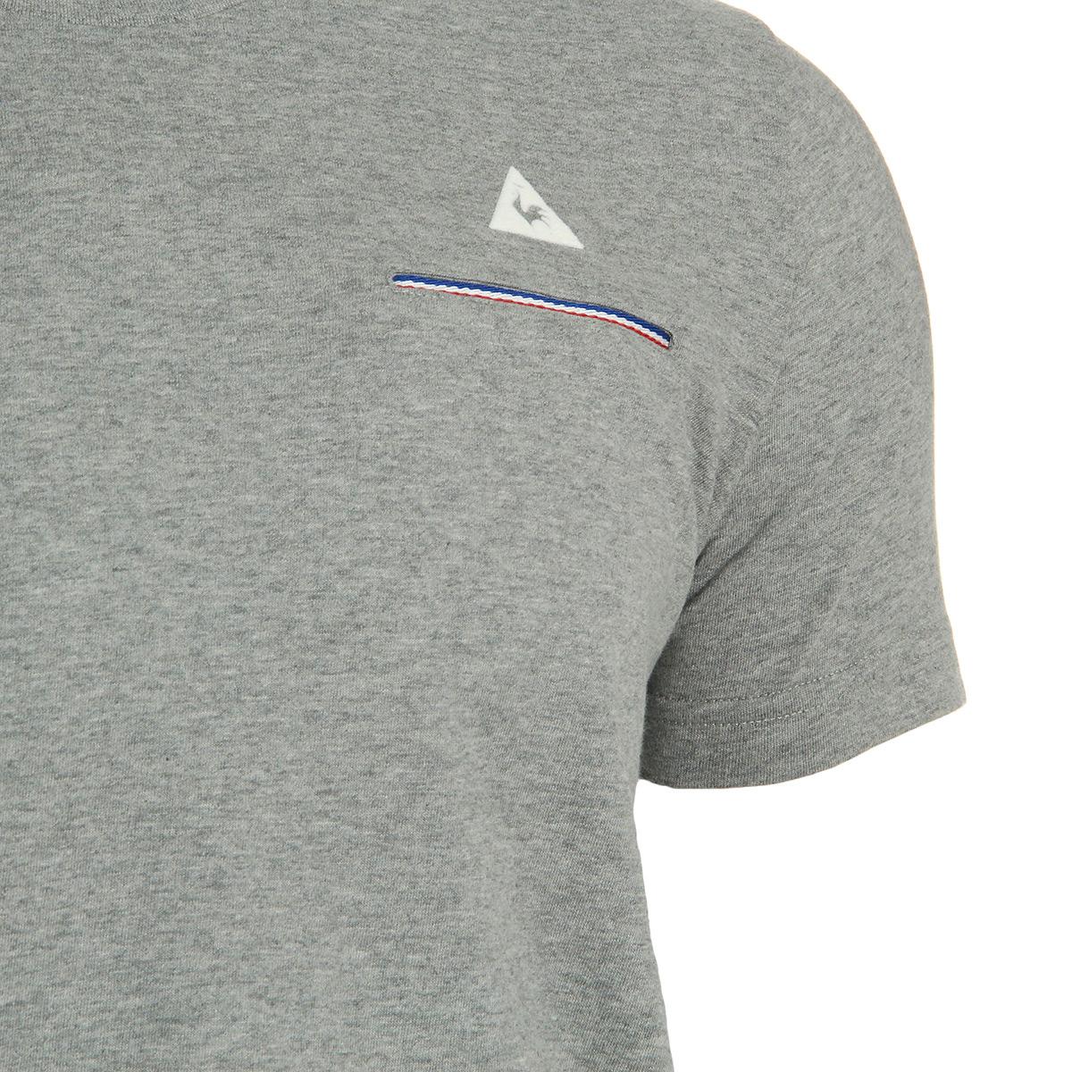 Le Coq Sportif Fluorin Tee SS M Light Grey 1610077, T-Shirts homme