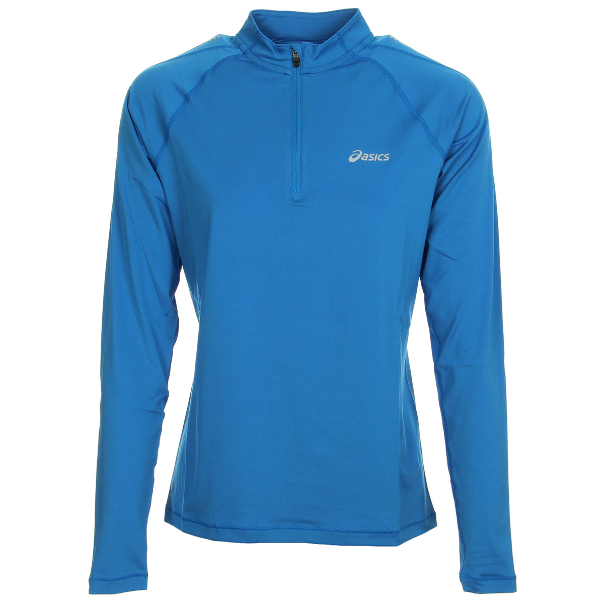 Asics T shirt Ls 12 Zip manches longues bleu ciel femme