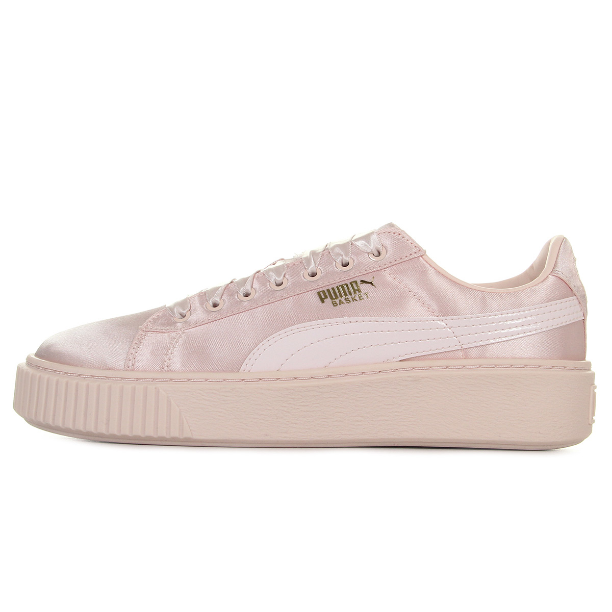 Puma Basket Platform Tween Jr Pearl-Pearl 36513301, Baskets mode femme