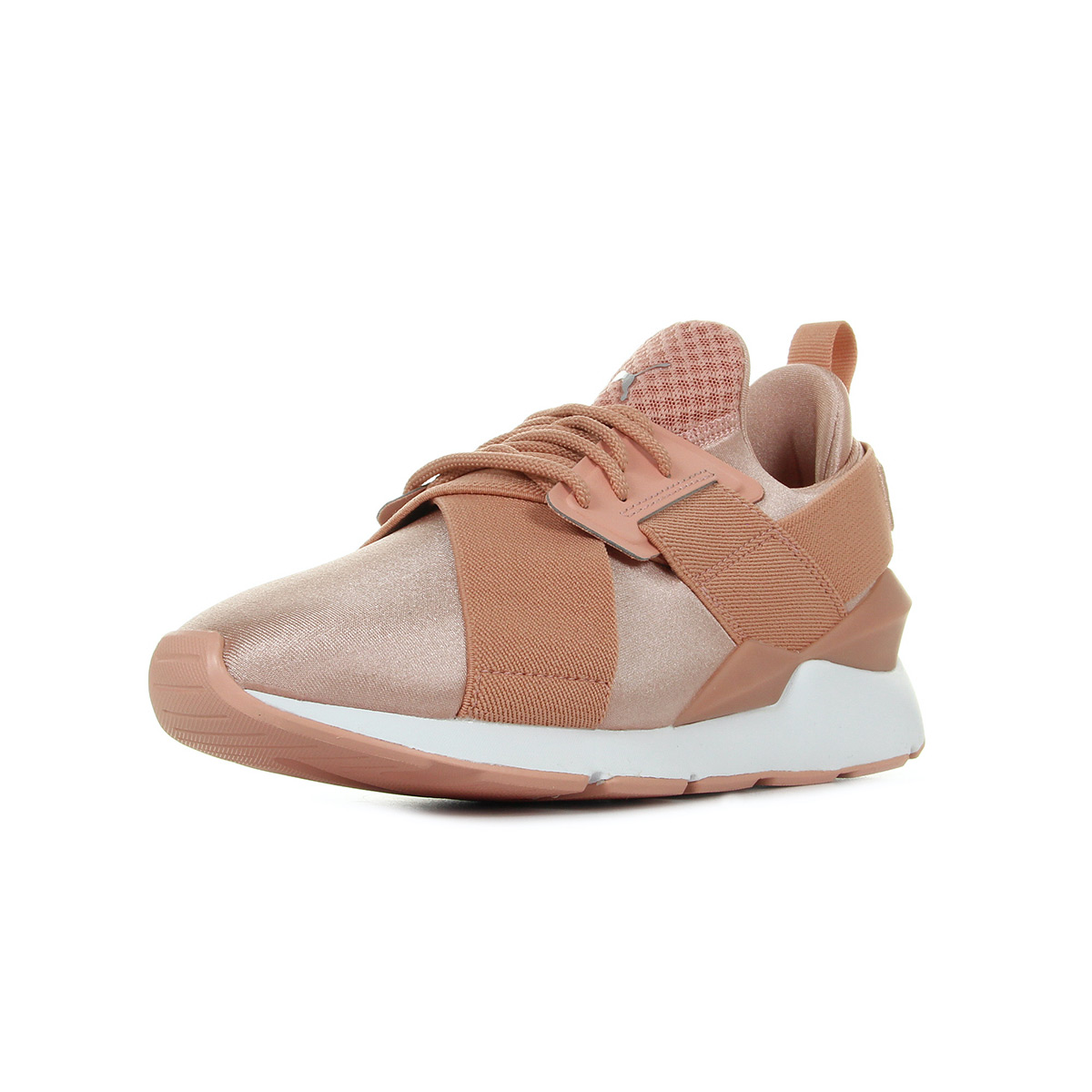 Chaussures Baskets Puma femme Muse X Strp Satin EP W's taille Rose Textile