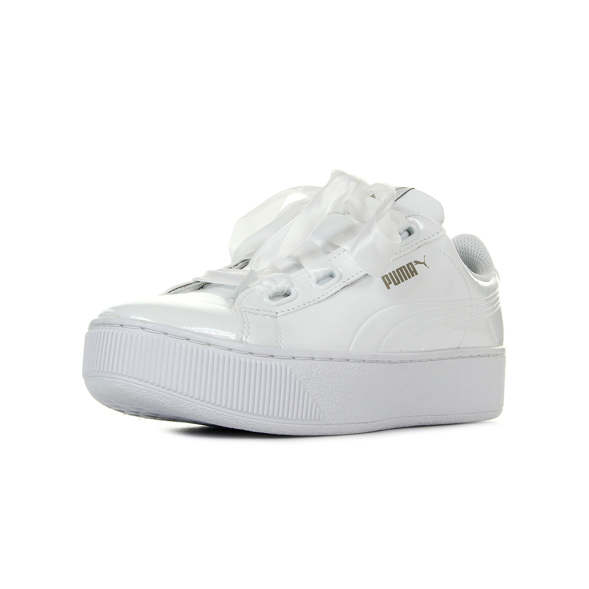 Chaussures Baskets Puma femme Vikky Platform Ribbon taille Blanc Blanche