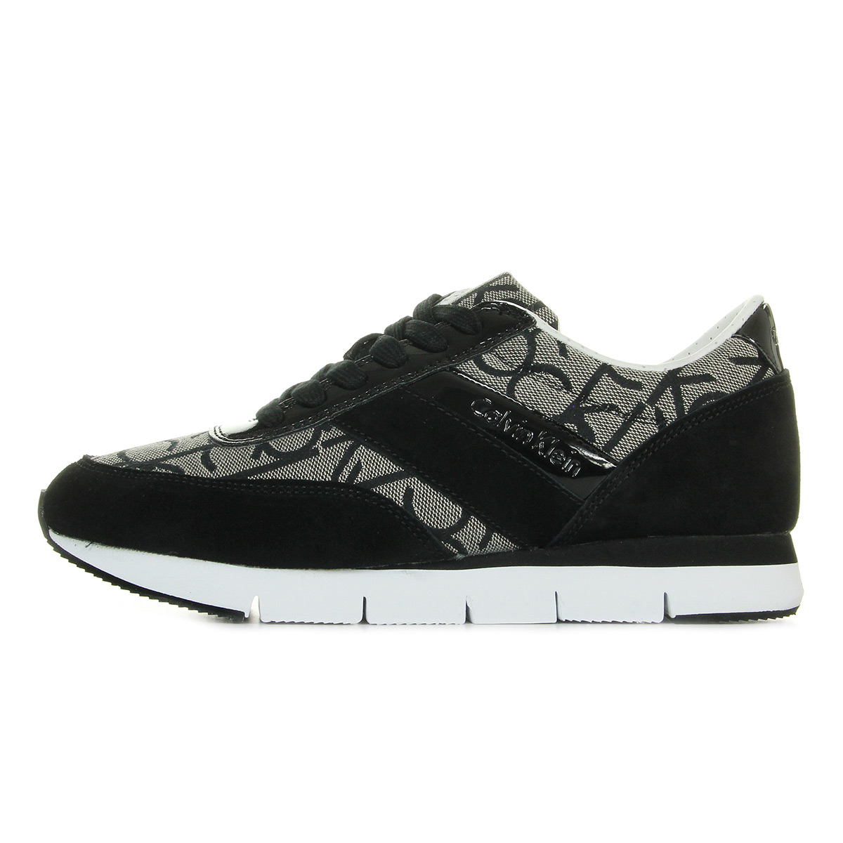 Calvin Klein Tea CK Logo Jacquard Patent RE9267GRANITEBLACK, Baskets mode
