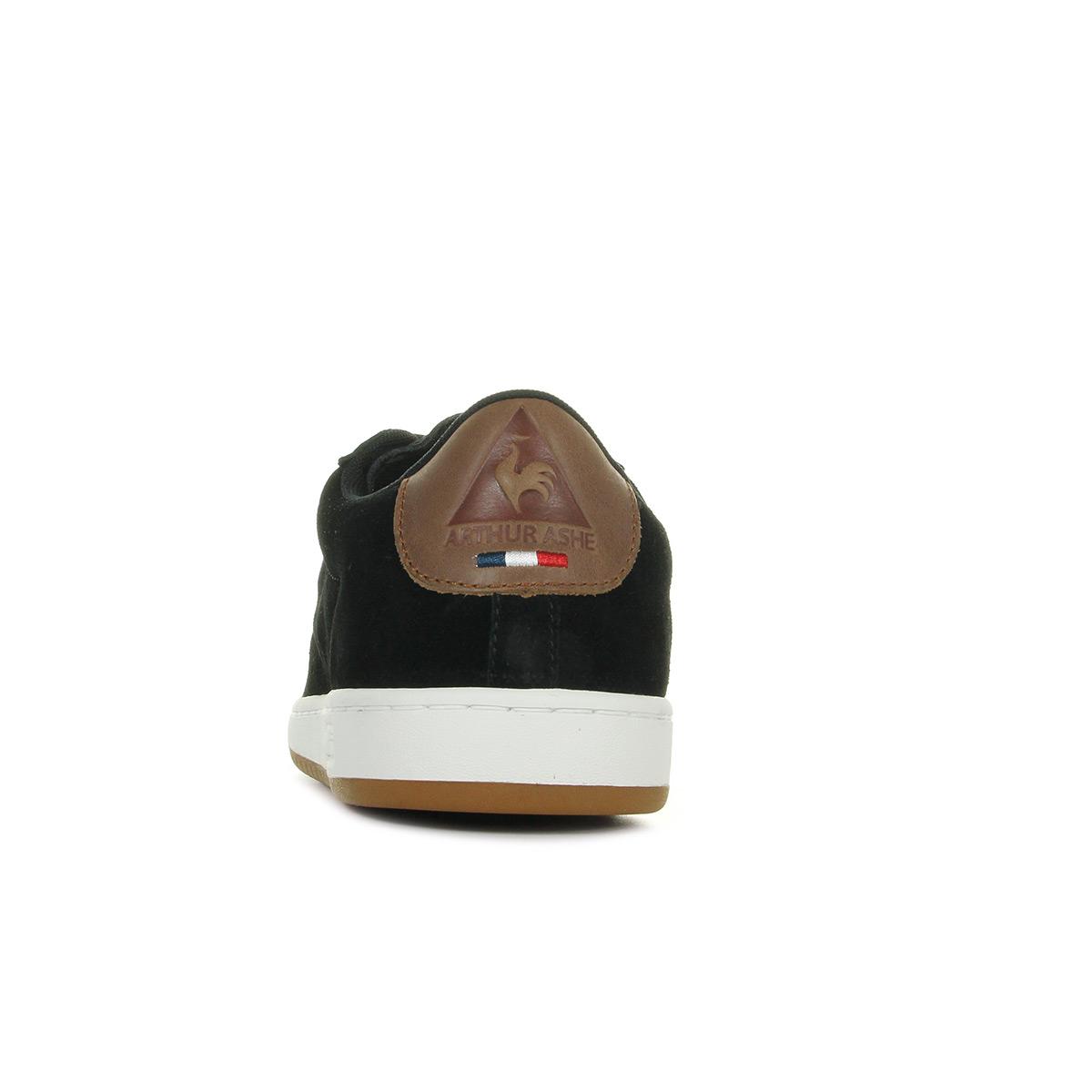 Le Coq Sportif Arthur Ashe Suede Black Cognac 1720917, Baskets mode homme