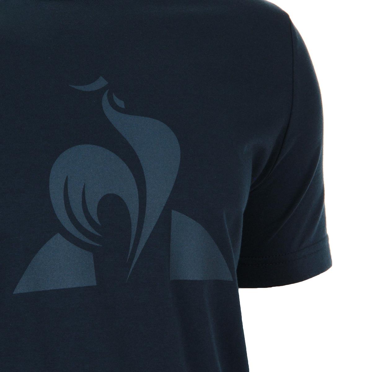 Vêtement T-Shirts Le Coq Sportif homme Ess Tee SS blues taille Bleu ... 64cd3ed81b2