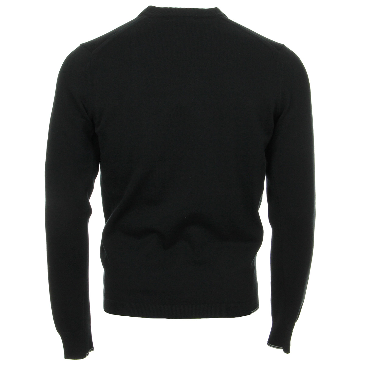 Fred Perry Twin Tipped Crew Neck Jumper Black K3506102, Pulls homme