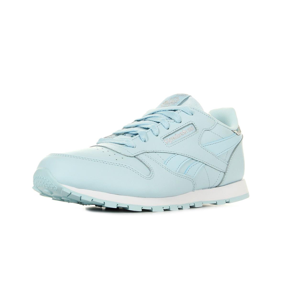 Chaussures Baskets Reebok femme Classic Leather Pastel taille Bleu clair Bleue