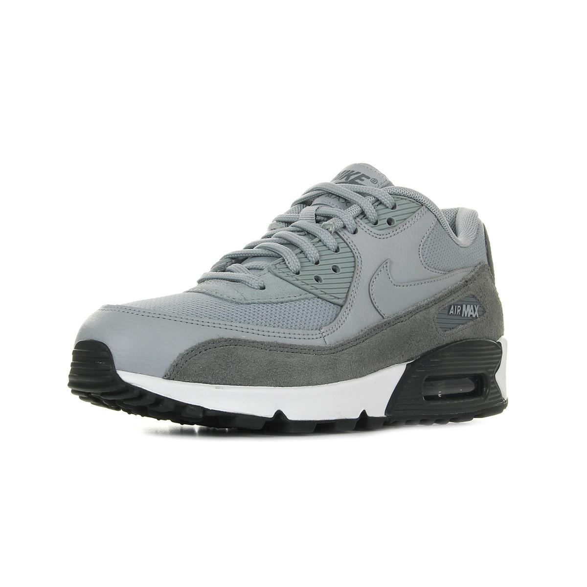 Chaussures Baskets Nike Unisexe Air Max Cuir 90 Taille Gris Grise Cuir Max 154880