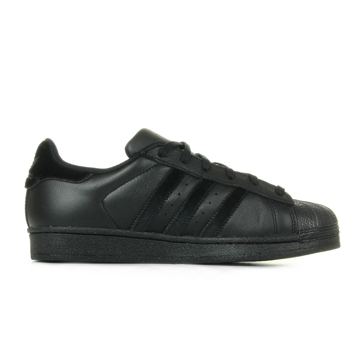 adidas Superstar Black BZ0358, Baskets mode