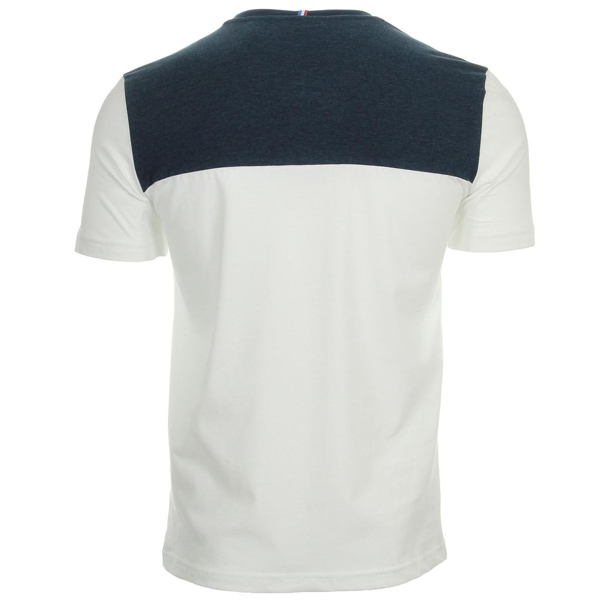 Le Coq Sportif TRI Tee SS N°2 M n.optical white/d.blues 1810457, T-Shirts homme