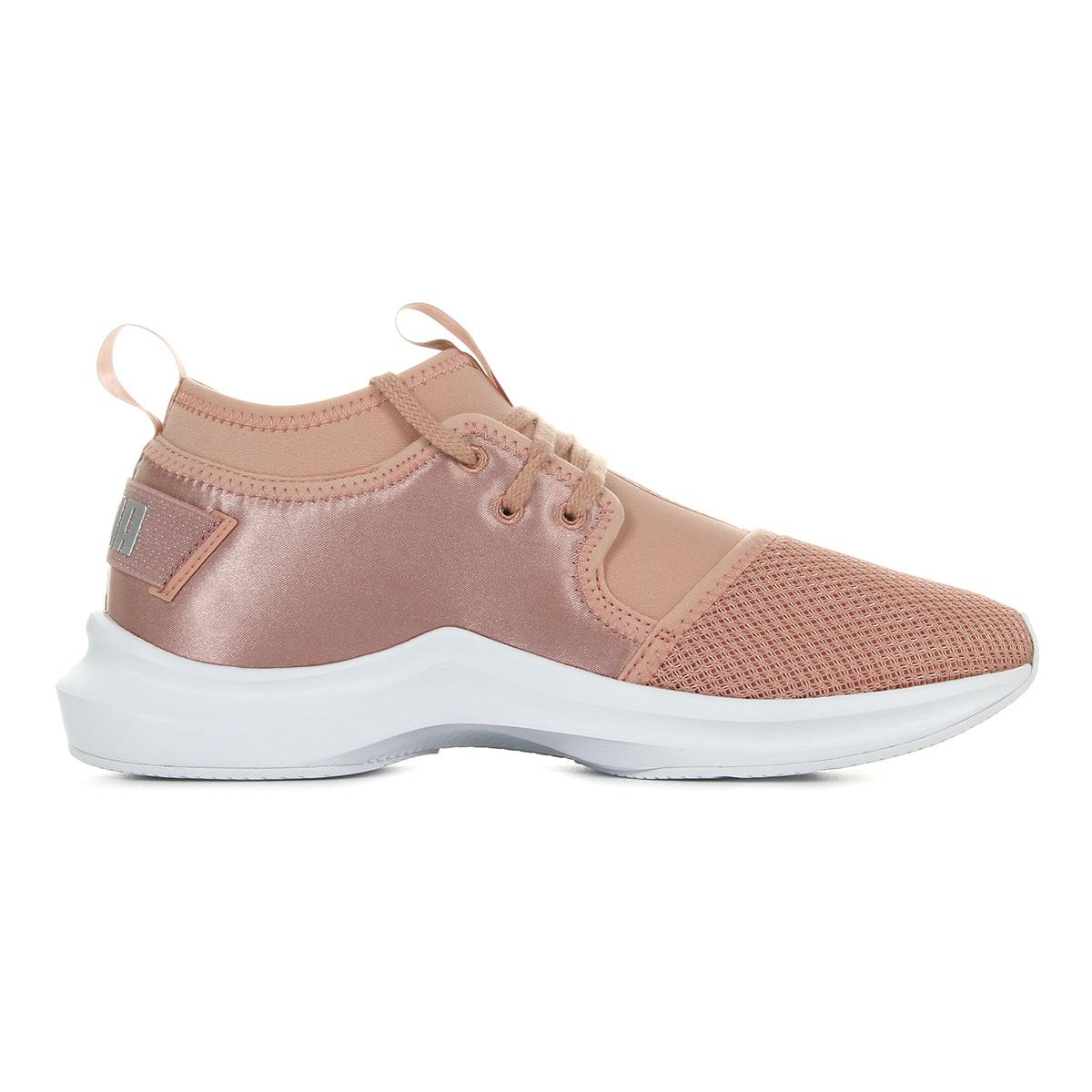 Dettagli su Chaussures Baskets Puma femme Phenom Low Satin EP Wn's taille Rose Synthétique